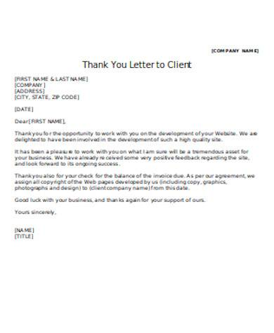 general client thank you letter