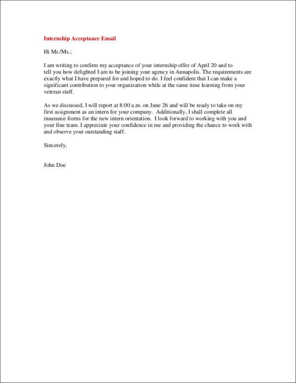 9 Internship Thank You Letter Samples Templates Free Word Pdf