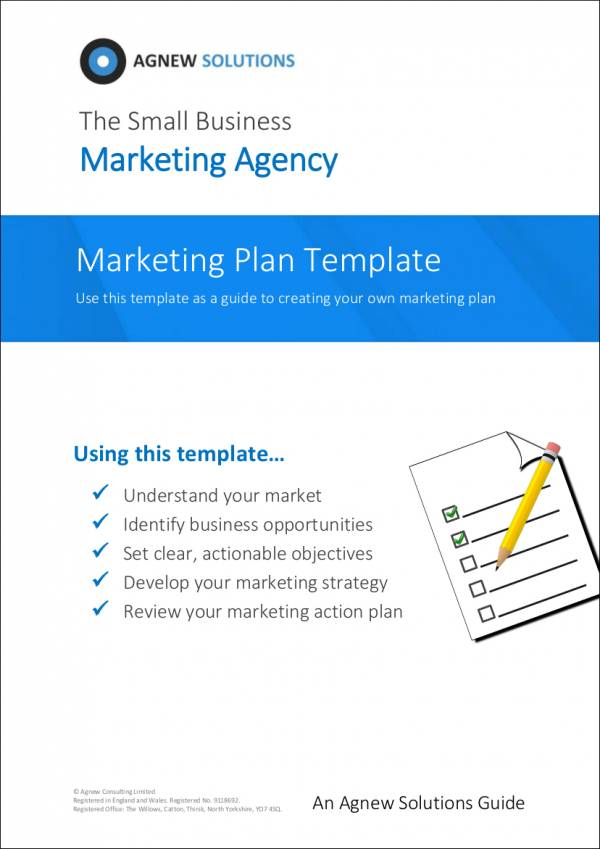 marketing plan template for marketing agency