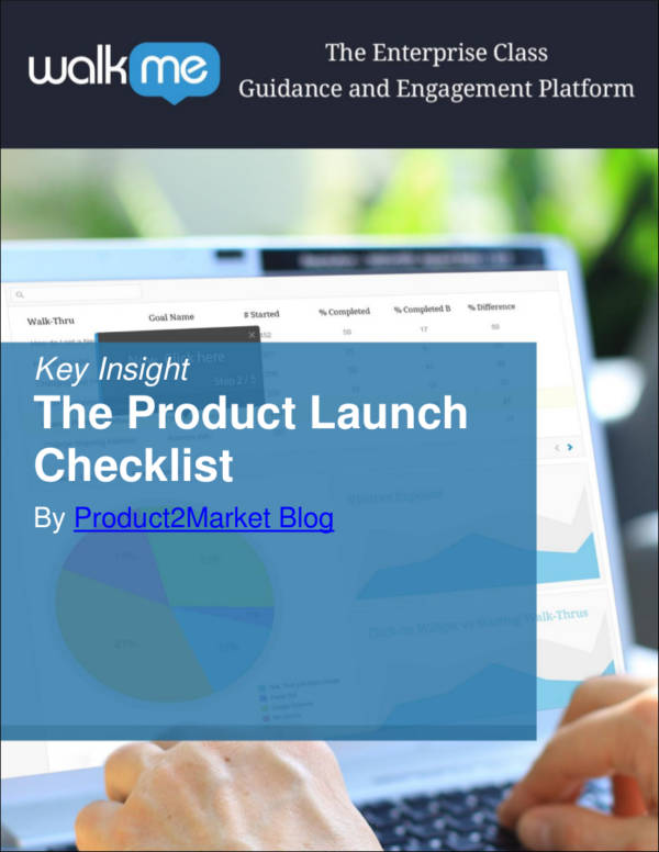 marketing strategy checklist for product launch