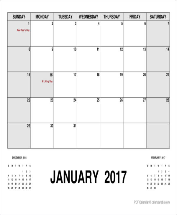 monthly planner template with holidays