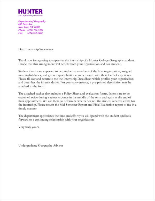 9 Internship Thank You Letter Samples Templates Free Word Pdf