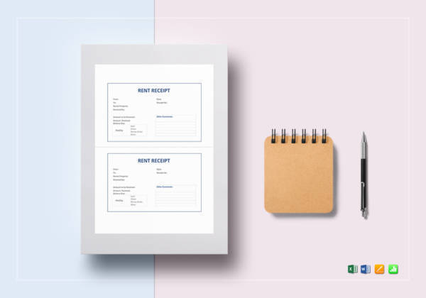 rent receipt template1