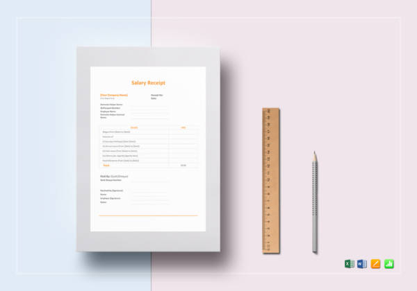 salary receipt template