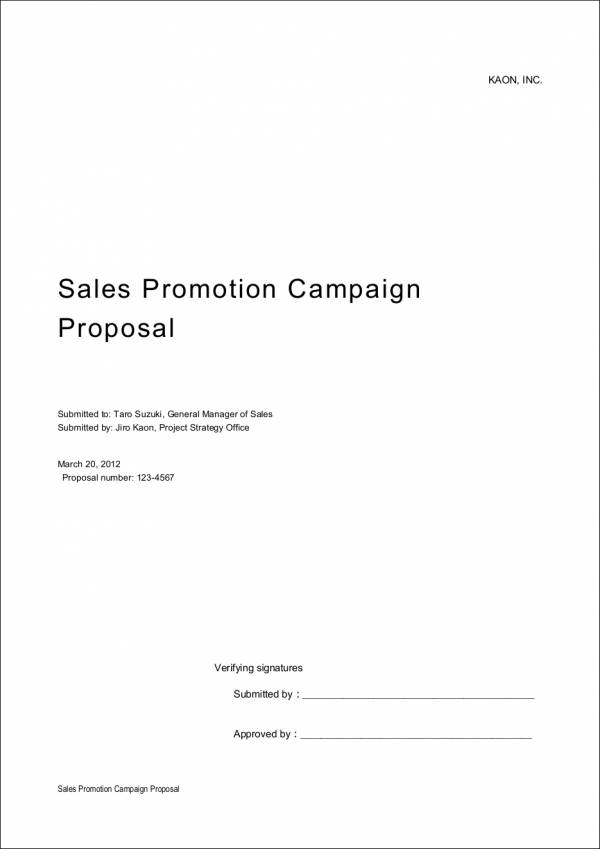 Sales Proposal Samples  Templates  Free Psd Pdf Format Download