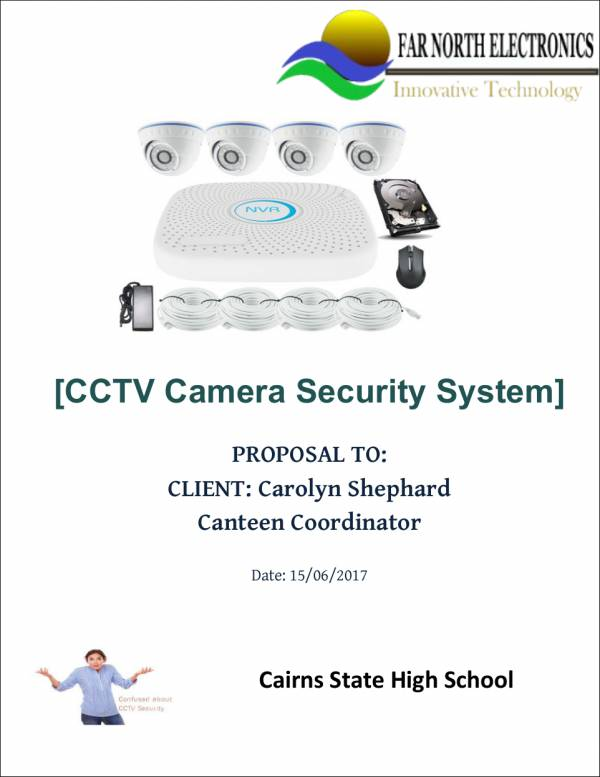 sales proposal sample for security system