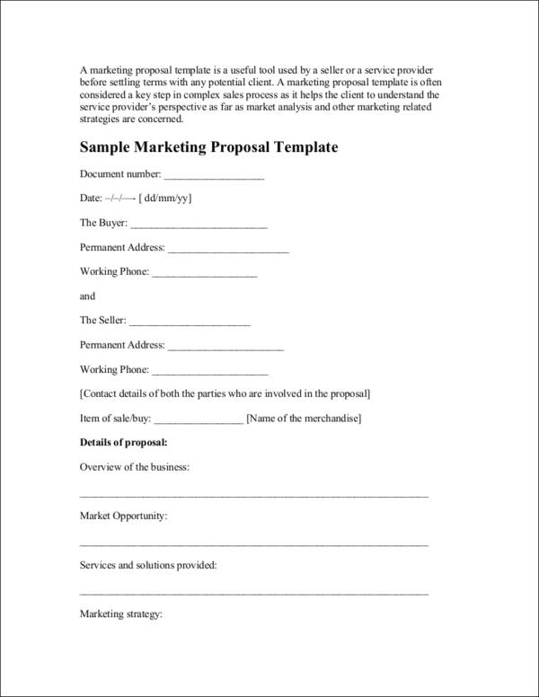 sample marketing proposal template