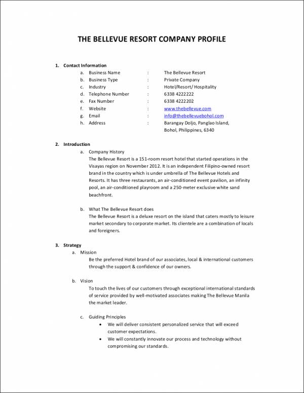 29+ Company Profile Samples & Templates in PDF - Free PDF Format ...