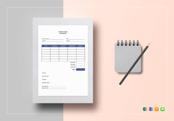 sample sales receipt
