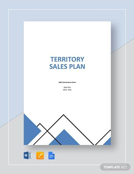 territory sales plan template