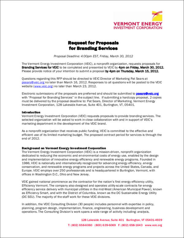 consulting project proposal template