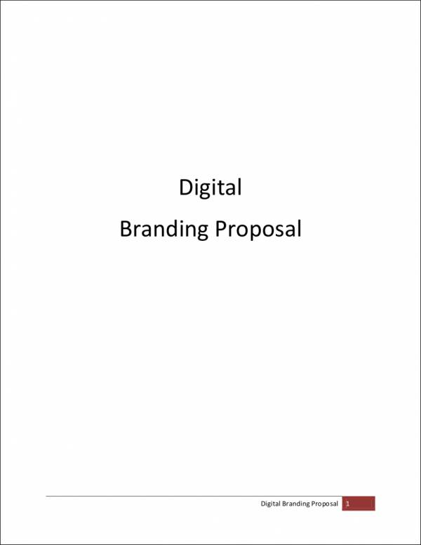 digital branding proposal sample