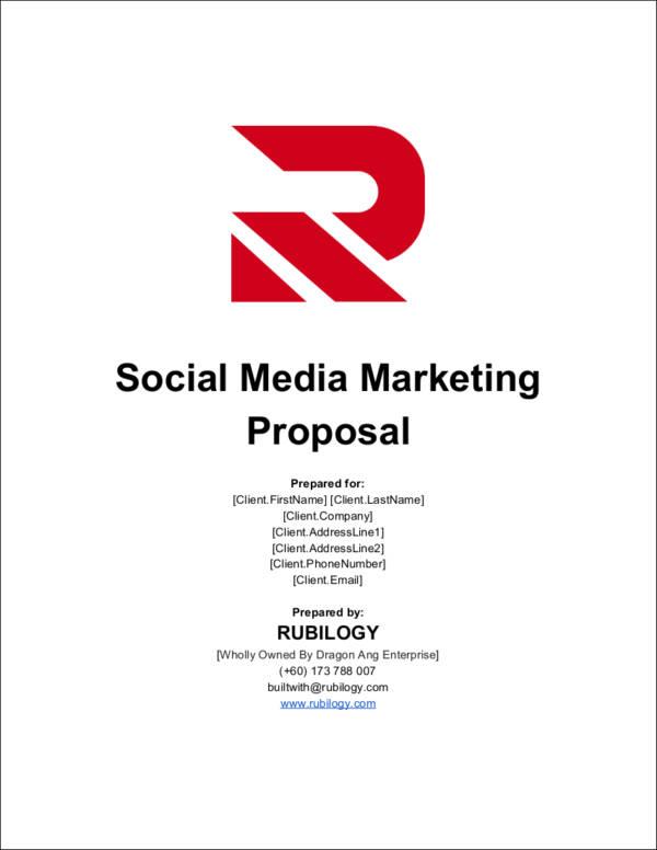 fillable social media marketing proposal