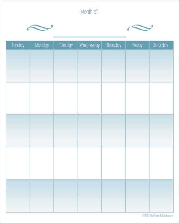 monthly planner template for simple moms