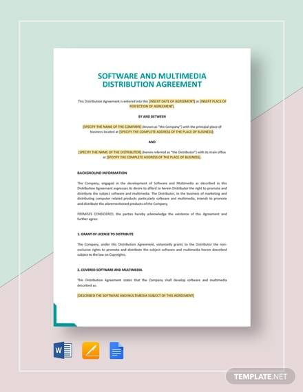 multimedia distribution agreement template