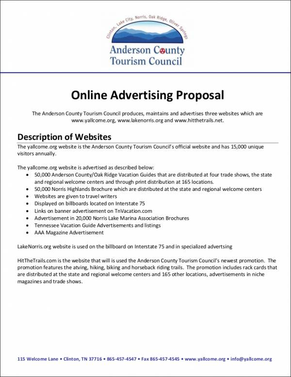 Online Advertising Proposal Waltergarwaltravels