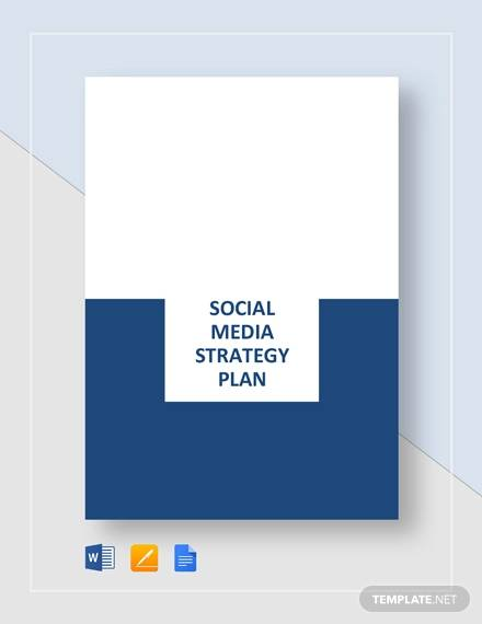 sample social media strategy plan