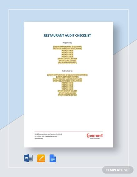 restaurant audit