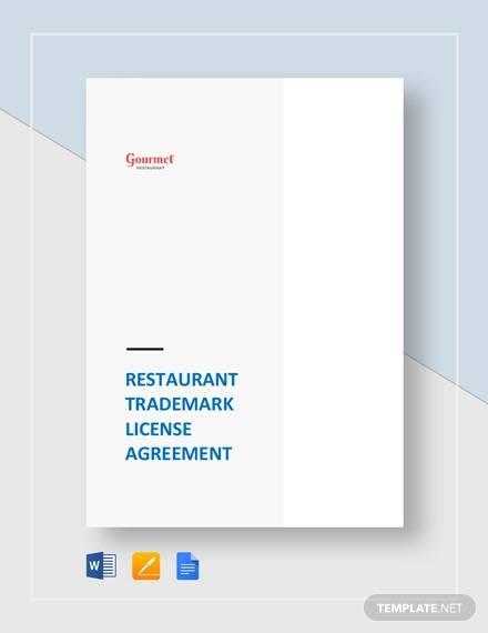 restaurant trademark license