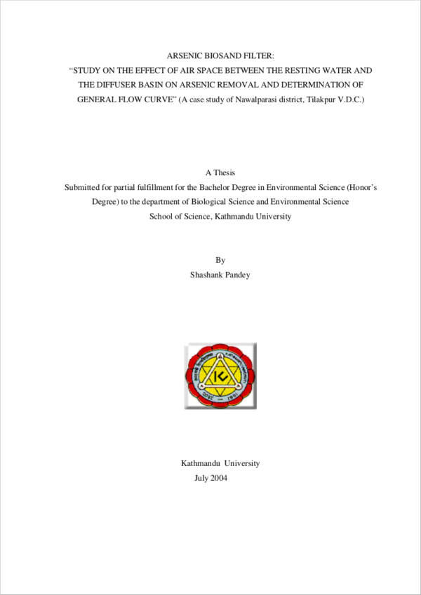 bachelors degree sample thesis