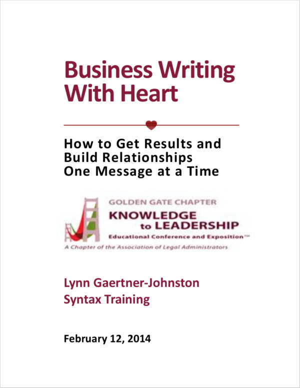 business writing guideline