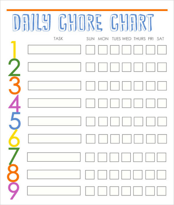 It is a graphic of Crafty Free Editable Printable Chore Charts for Adults