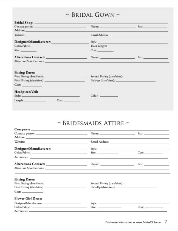 detailed wedding planner template with instructions