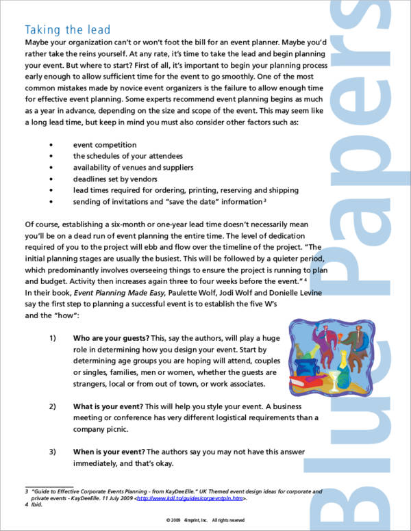 effective event planner template