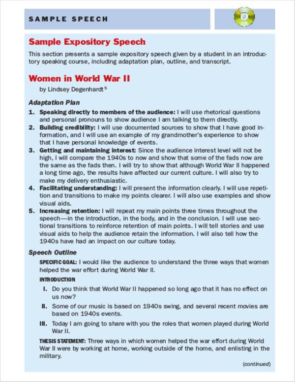 11+ Speech Writing Samples & Templates – PDF | Sample Templates