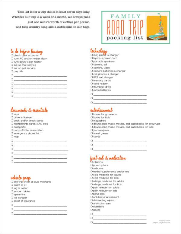 5 road trip planner samples templates pdf sample templates. Black Bedroom Furniture Sets. Home Design Ideas