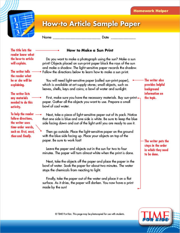 how to article writing