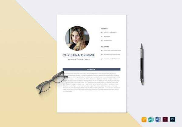 minimal automobile resume template