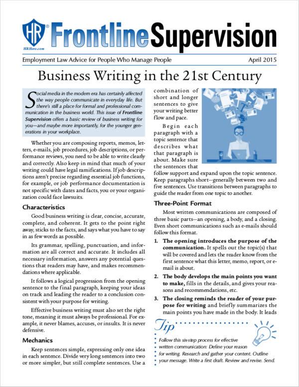 modern business writing guide