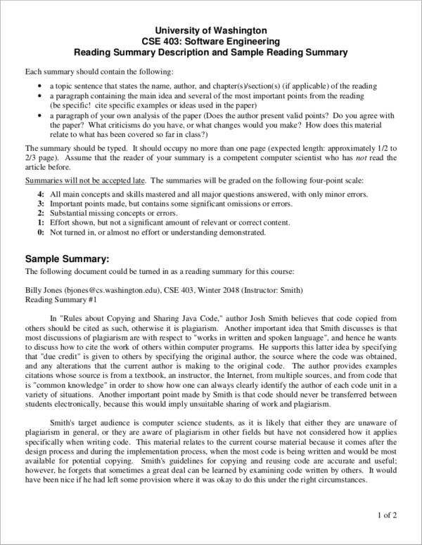 sample course summary description1