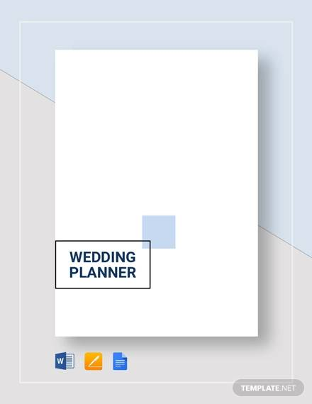 sample wedding planner