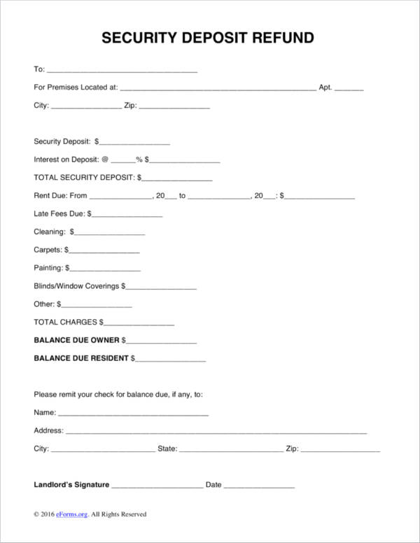 free 5  refund receipt samples  u0026 templates