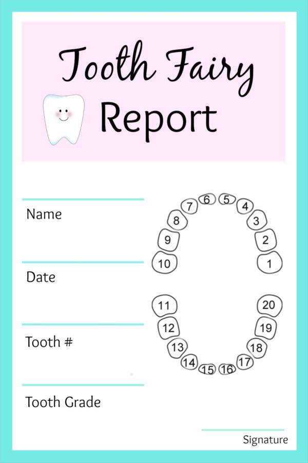 picture relating to Free Printable Tooth Fairy Receipt identified as Free of charge 9+ Teeth Fairy Receipt Samples Templates PDF