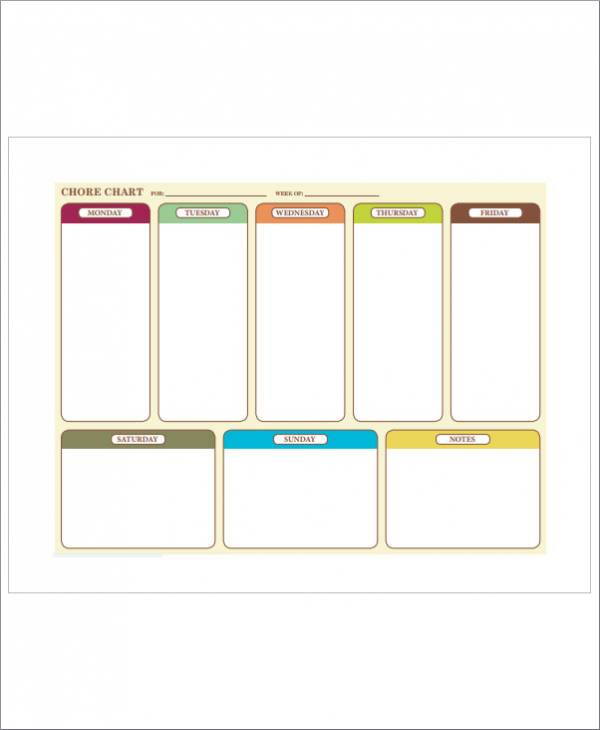 family chore template