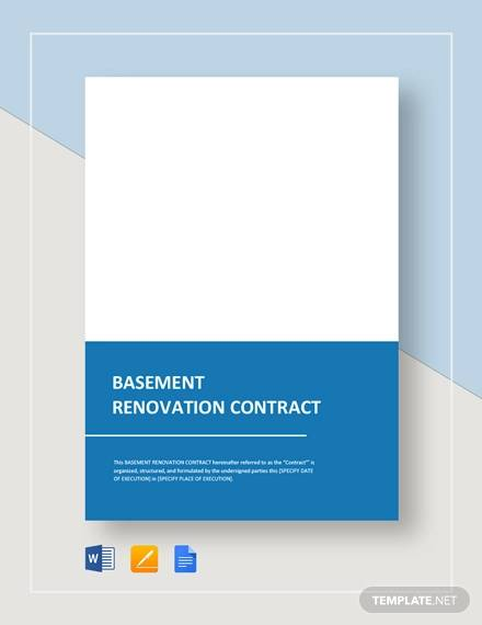 basement renovation contract