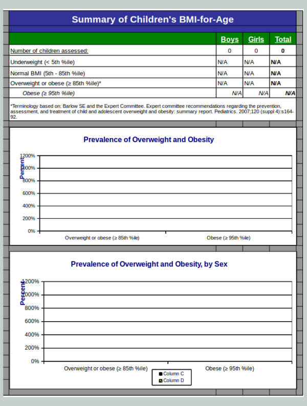 bmi calculator spreadsheet sample