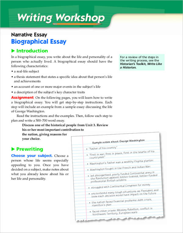 How to write an admission essay on biography