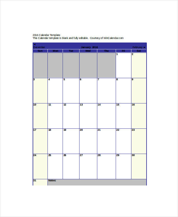 blank apointment schedule calendar template