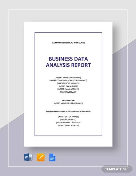 business data analysis report