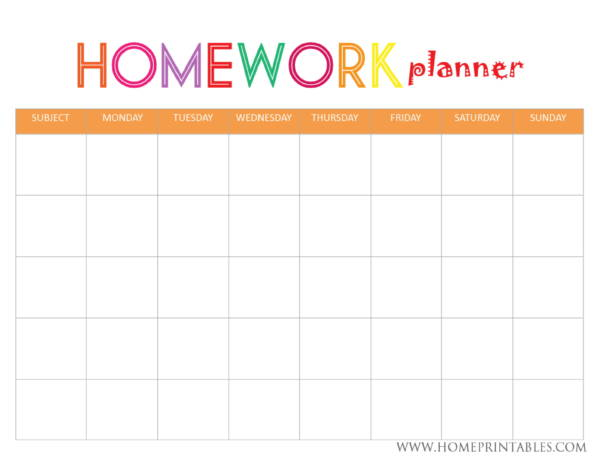image about Printable Homework Planner named Cost-free 9+ Research Planner Samples and Templates within just PDF Phrase