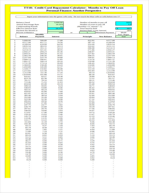 6 debt spreadsheet samples templates pdf excel