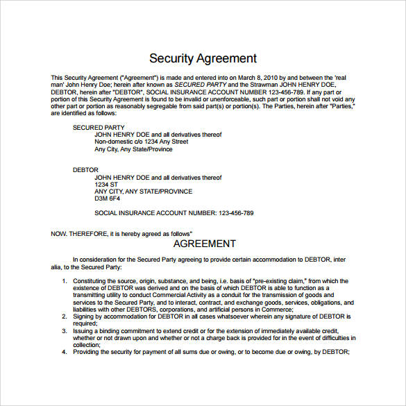 free 13  security contract samples and templates in pdf