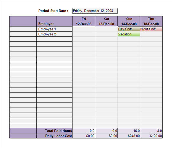 excel employee shift schedule template. Black Bedroom Furniture Sets. Home Design Ideas