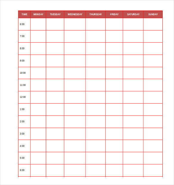 free personal daily planner template