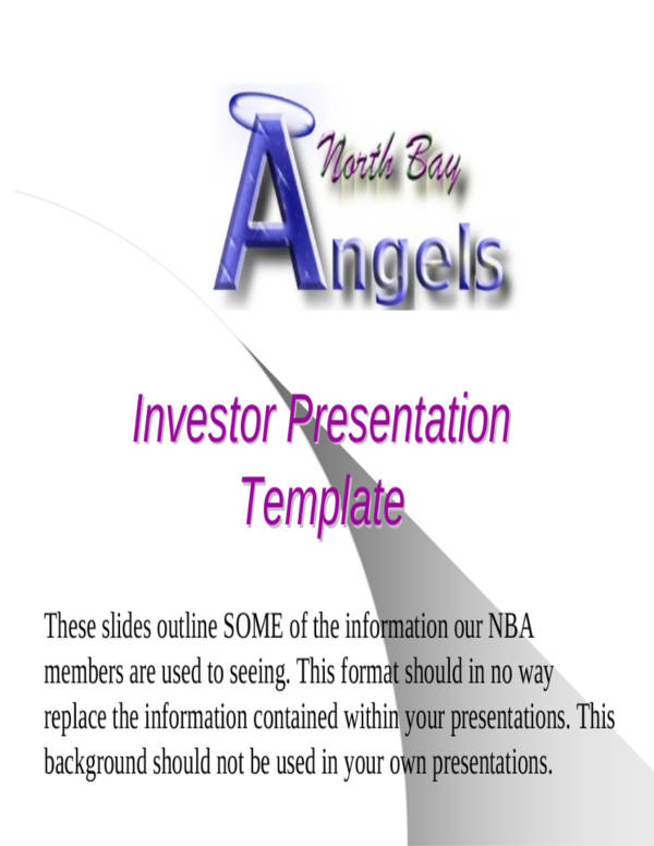 investor marketing presentation template