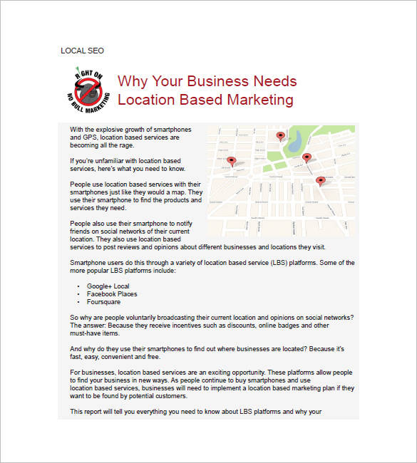 local seo planner template
